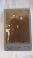 Antique photo of widow. Breur and son couple