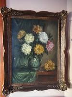 Béla Czene Jr., marked oil painting, canvas, 80x100 cm in a wonderful frame