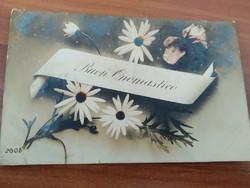 Antique postcard, sent to name day, k.U.K.4. Korpskommando