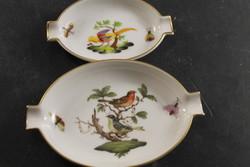 Herend rotschild and pheasant ashtrays 622