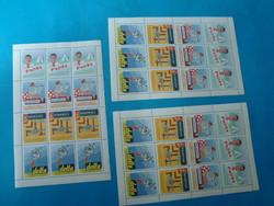 2 ív levélzáró bélyegekkel , ifjusági ujságok témában