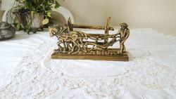 Brass table letter holder
