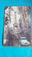 Old photo of mercedes advertisement with eiffel tower