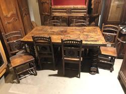 Baroque table + 6 pcs. Chair