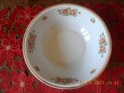 Zsolnay porcelain rose patterned bowl