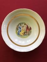 Gilded scene bowl