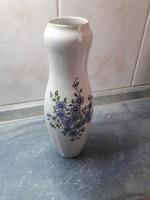 Zsolnay blue peach flower vase