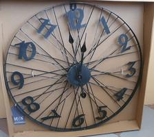 Bicikli kerék formájú fém  fali óra