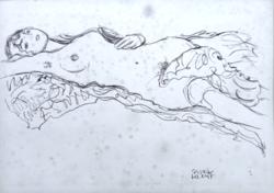 Gustav Klimt tanulmányrajz