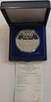2004. Magyarország Európai Uniós csatlakozása ezüst emlékérem 5000 Forint-os - 406.