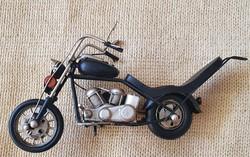 Fém lemez Chopper  Motor Makett (fekete)
