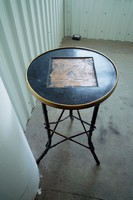 Antique Art Nouveau bamboo table table with flower stand stand pedestal