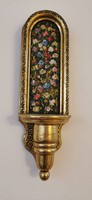 Fire gilded - hand painted - wall pedestal