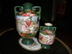 Antique faience vases
