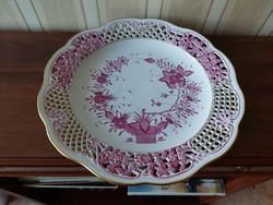 Herend 33.5 Cm, Indian basket patterned wall bowl