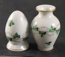 Herend vase and salt shaker 901