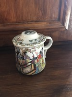 Viable oriental metal strainer, special ears and shape, tea mug