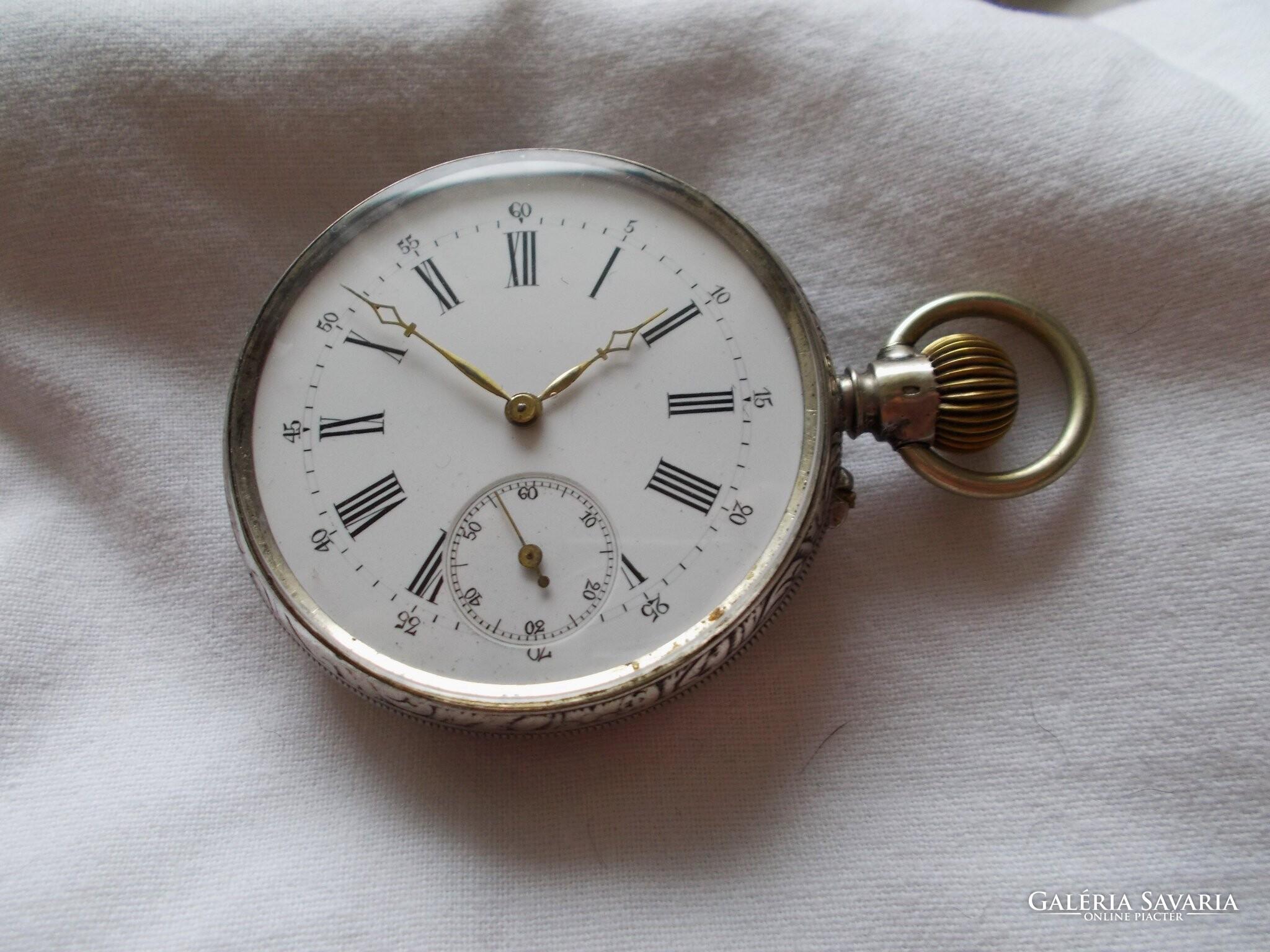 Régi ezüst zsebóra! (1900 körül) - Óra  d4c3b6e7a8