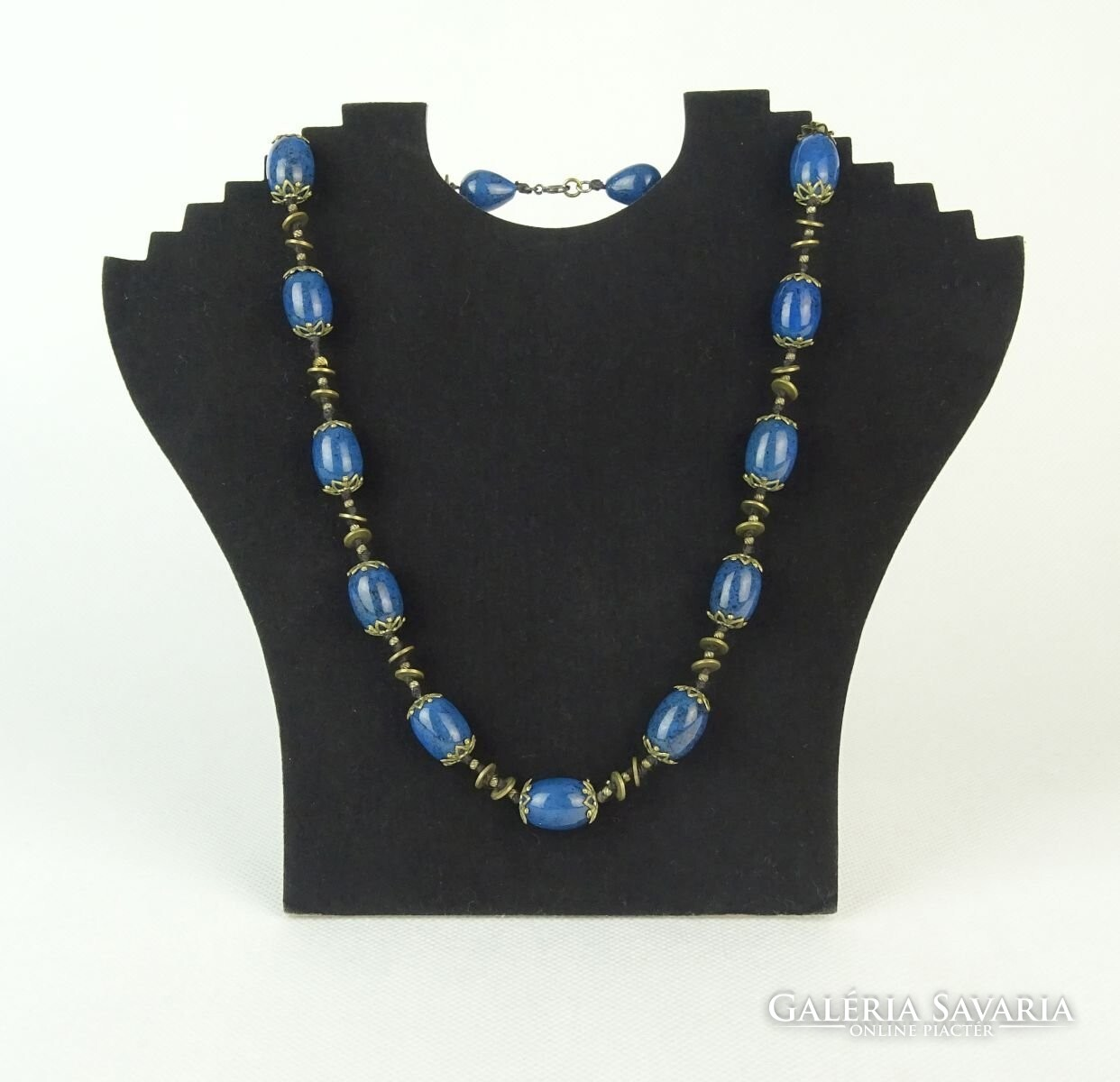 650c115633 0Q809 Igényes 15 köves női bizsu nyaklánc nyakék - Jewelry   Galeria ...