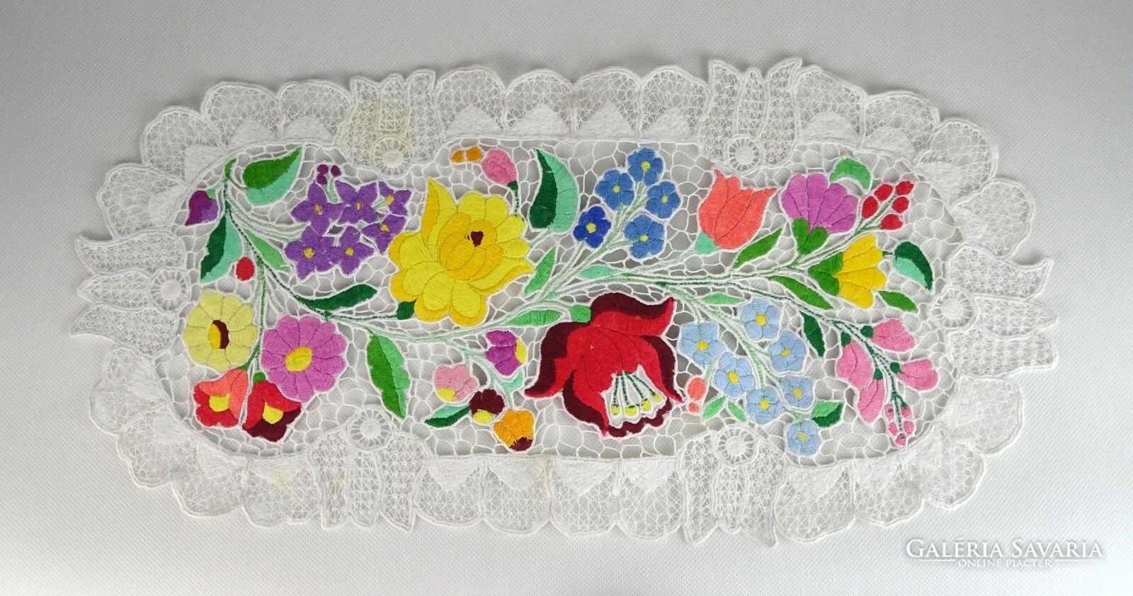 1de108a696 0S280 Riselt kalocsai hímzett csipke terítő 49 cm - Szőnyeg, Textil ...