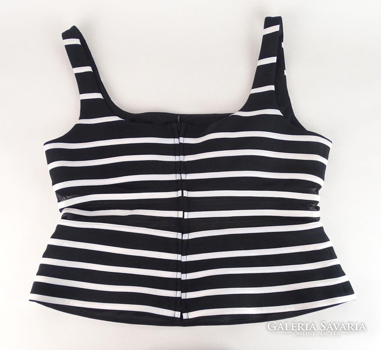 735fb1f191 0V779 Fekete-fehér csíkos Joseph Ribkoff top - Wardrobe | Galeria ...