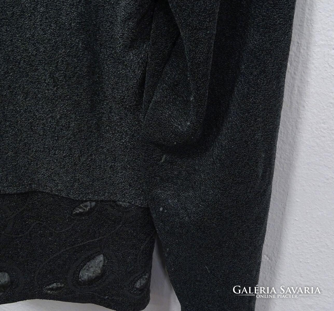 0W139 Gelco zöld keleti mintás bársony női kabát Wardrobe