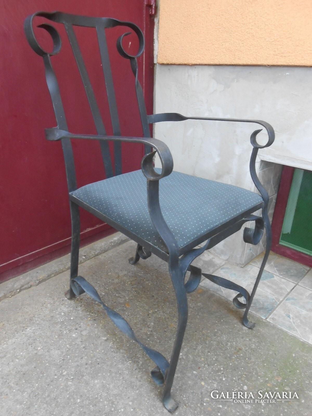 Antik kovácsoltvas széktrón 100*50*45 cm Bútor   Galéria