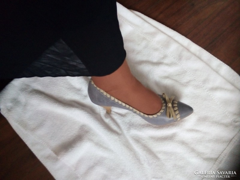 Tamaris vajpuha bőr komfort cipő 41 kékesszürke akár